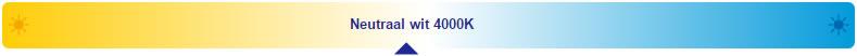 led inbouwspot 4000k dimbaar wit