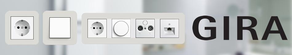 Gira E3 lichtgrijs wit schakelmateriaal