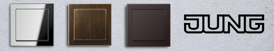 jung ls design afdekramen schakelmateriaal afdekramen schakelaars stopcontacten. Black Bedroom Furniture Sets. Home Design Ideas