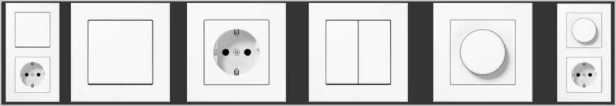 Jung A550 wit schakelmatriaal