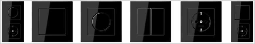 Jung A550 zwart schakelmateriaal