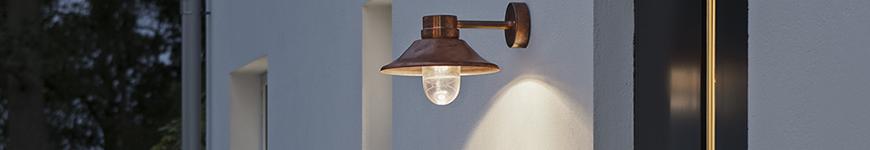 led koper kleurige buitenlamp Konstsmide buitenverlichting