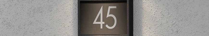 Buitenverlichting huisnummer