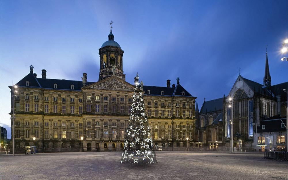 Kerstverlichting voor bedrijven grote kerstboom