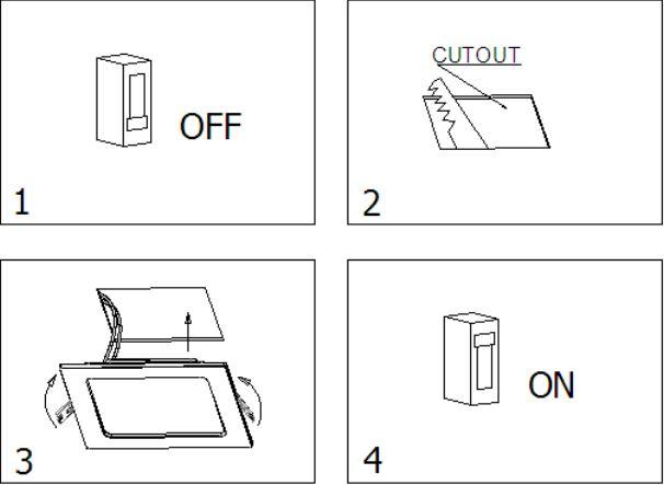 Gebruiksaanwijzingen LED paneel vierkant ECO