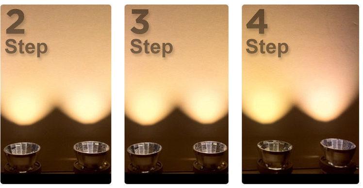 Verschil in de lichtkleur tussen meerdere lampen