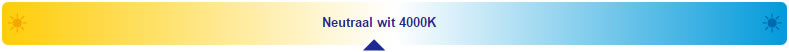 lichtkleur wit 4000K