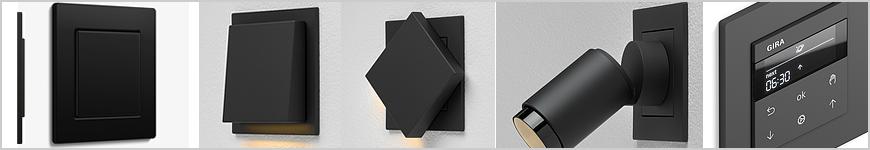 Gira mat zwart vlak inbouw schakelmateriaal