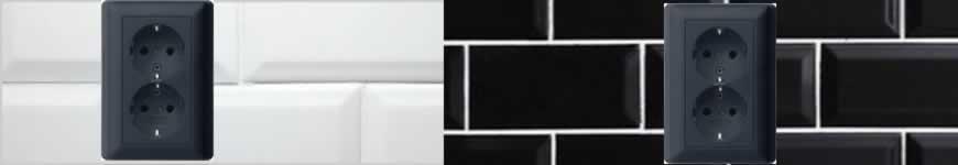 Gira dubbel stopcontact zwart