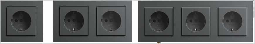 Gira stopcontact inbouw zwart