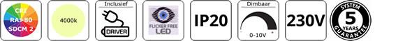 0-10V dimbaar led paneel