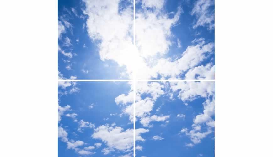 paneel clouds 4 panelen