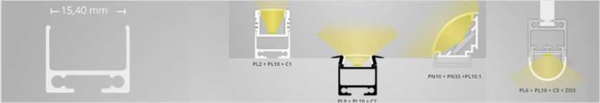 LED profiel PL10