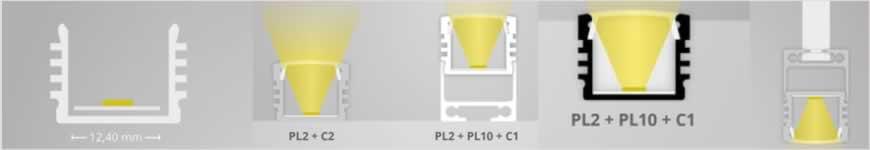 LED profiel PL2