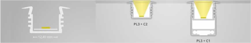 LED profiel PL3