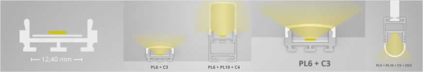 LED profiel PL6