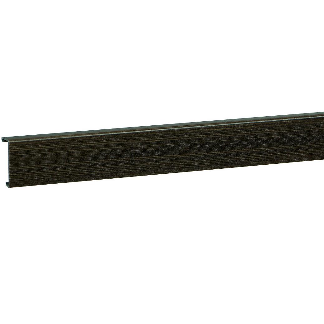 Electro plint kanaal met deksel 20 x 80 mm sucupira 2 meter wandgoot plintgoot - Deksel x ...
