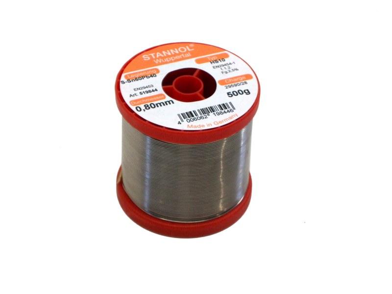 Soldeertin met harskern diameter 0.8 mm 500 gram spoel