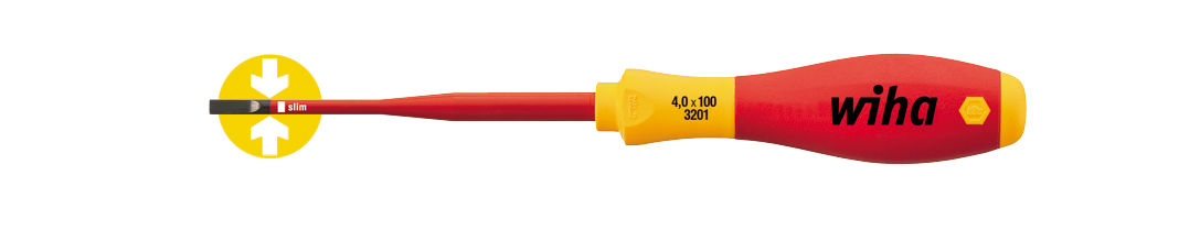 Wiha SoftFinish electric slimFix sleufkopschroevendraaier 1000v 3201 4,0 x 100 35390