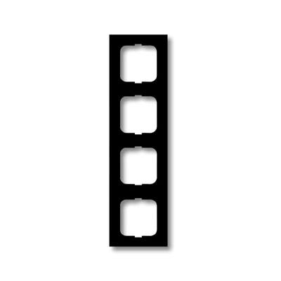 Busch Jaeger 4 voudig afdekraam 1724 885K zwart mat