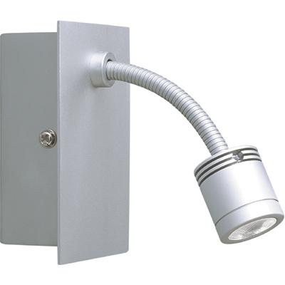 Klemko LED wandarmatuur flexibel 1W aluminium warm wit licht