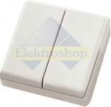 Eltako Funk mini handzender zilvergrijs glanzend batterijloos draadloos 4 kanaal