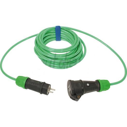 Verlengsnoer PUR kabel 3x25mm² 25m groen