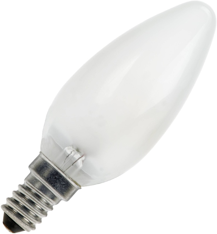 Kaarslamp E14 15W mat 230V