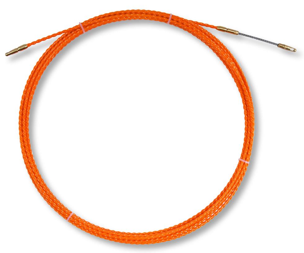 Trekveer kunststof 15M oranje AMW twist