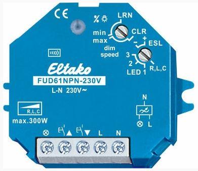Spaarlamp dimmer draadloos FUD61NPN-UC Eltako