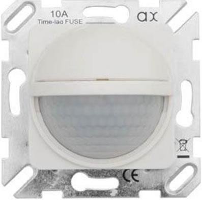 Bewegingsmelder inbouw 50x50mm wit ral9010 instelbaar - Presto armaturen ...