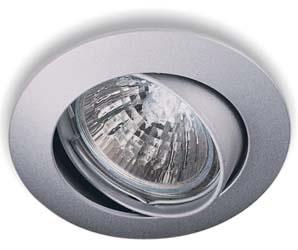 Oscaluz 12V halogeen inbouwspot kantelbaar mat aluminium
