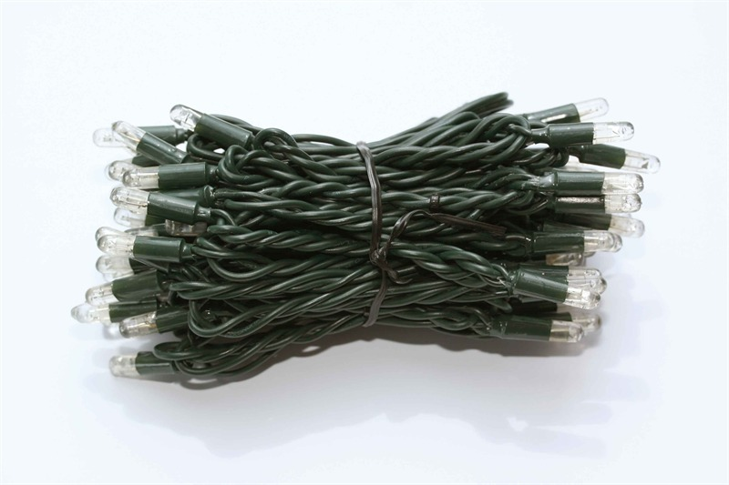 Boomverlichting LED Cord Light 24V warm wit 10M groene kabel 100 LEDS