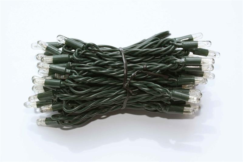 Boomverlichting LED Cord Light 24V warm wit 6M met groene kabel (stekkerklaar)