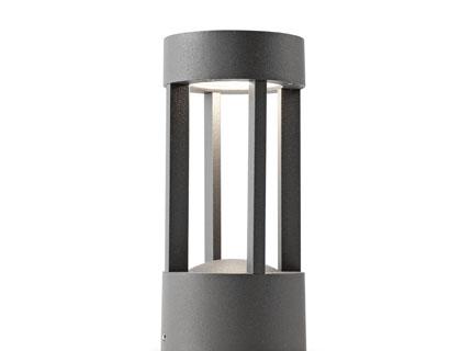 Staande lamp jaipur led w lm mm donker grijs