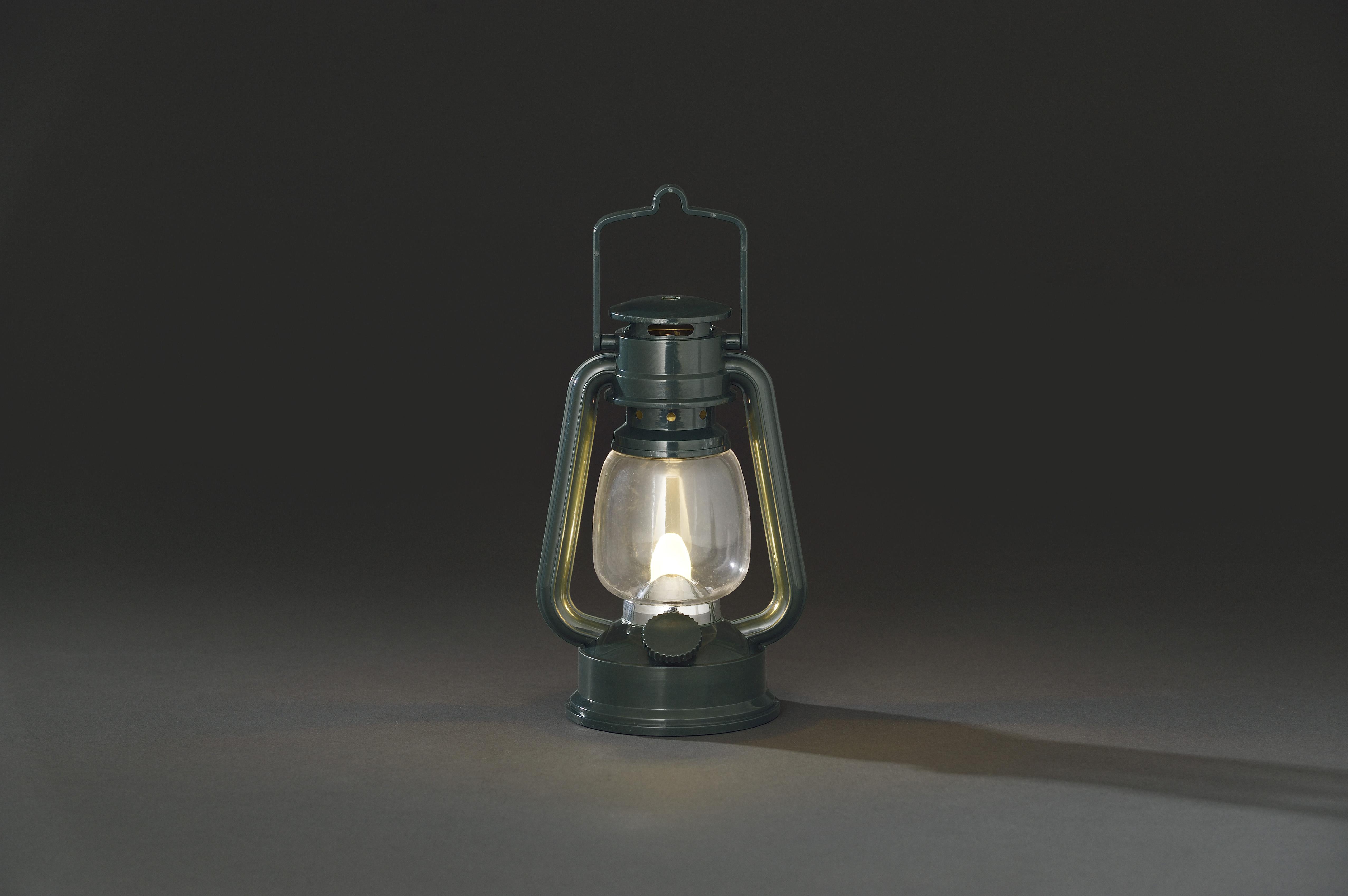 LED stormlantaarn donkergroen