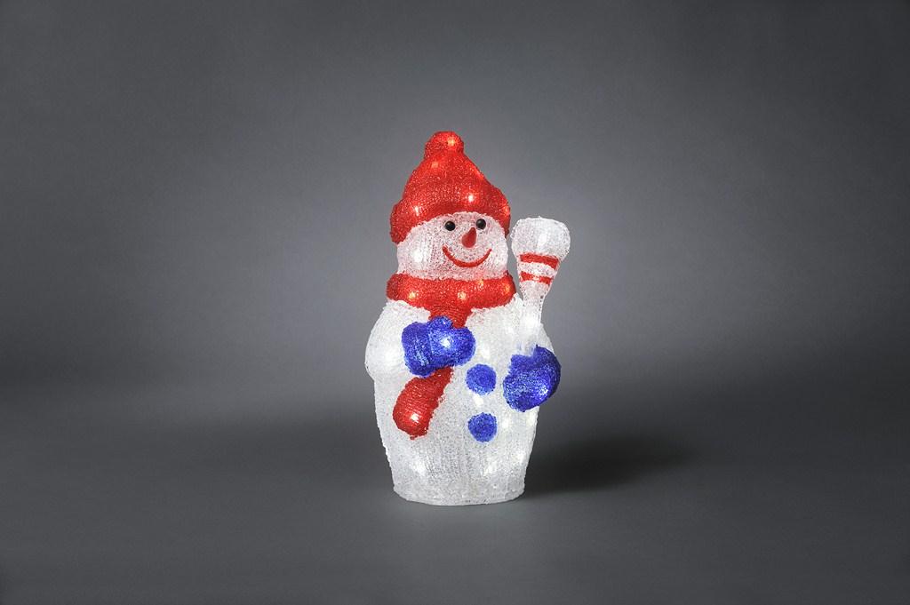 energie A+, LED-verlichting Sneeuwpop acryl 48 koudwitte dioden voor buitengebruik, Konstsmide