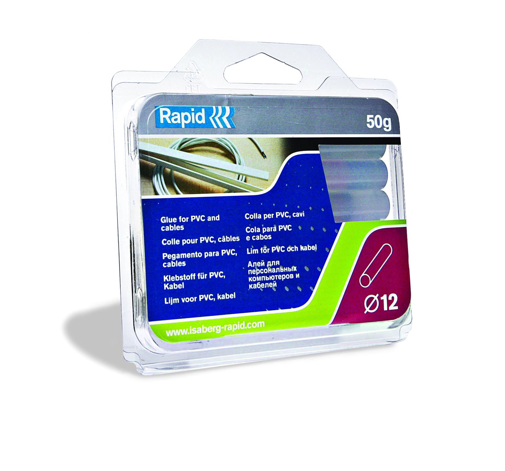 Rapid Lijmpatronen PVC Kabel Transparant Ø12mm 50g