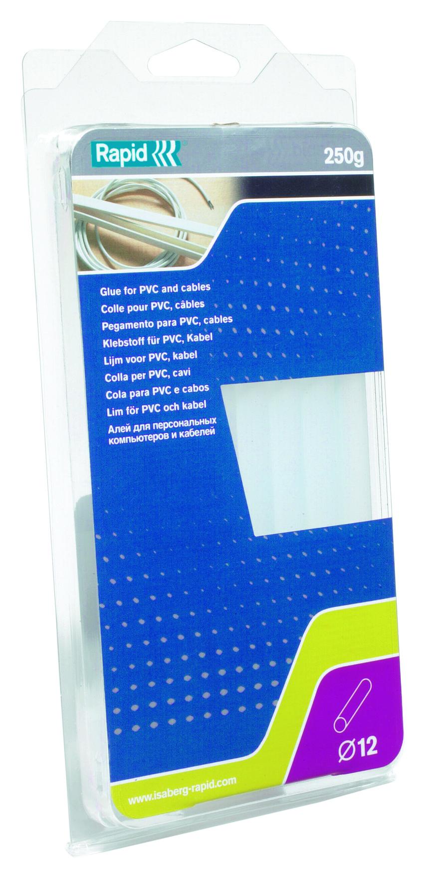 Rapid Lijmpatronen PVC Kabel Transparant Ø12mm 250g