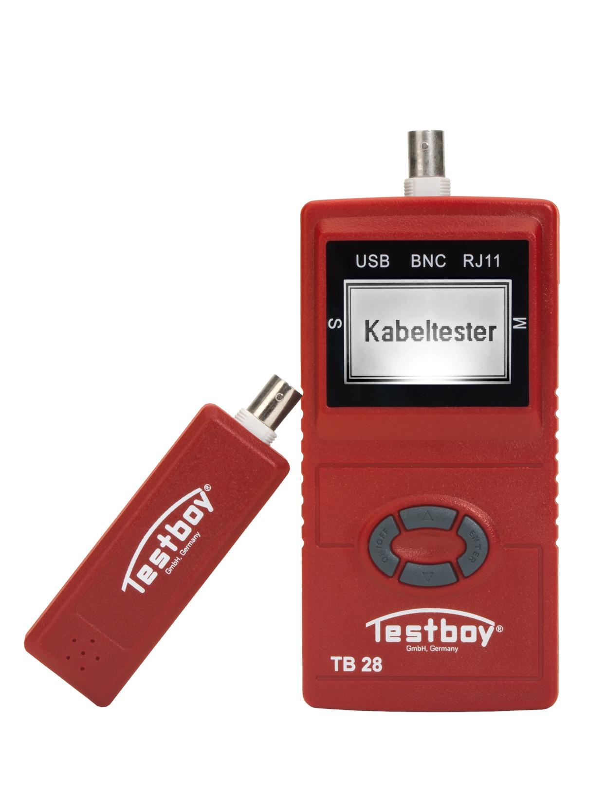 Testboy TV28 Kabeltester Lengte Meter