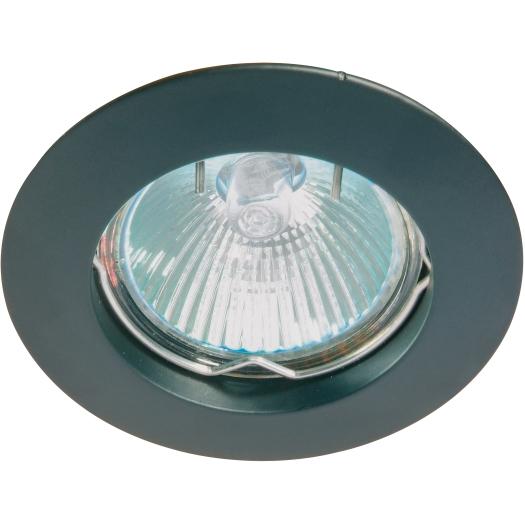 LED Inbouwspot zwart vast alucast Deluna 850.073.01