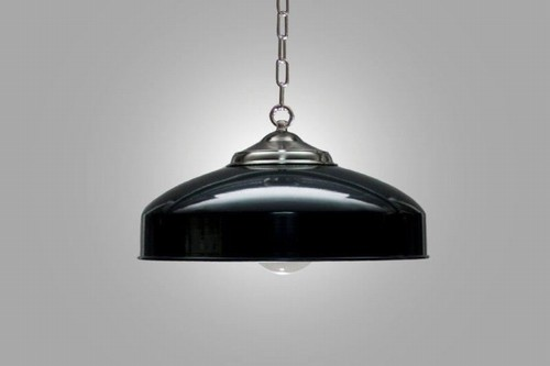 Biljartlamp Nikkel groen nostalgische hanglamp