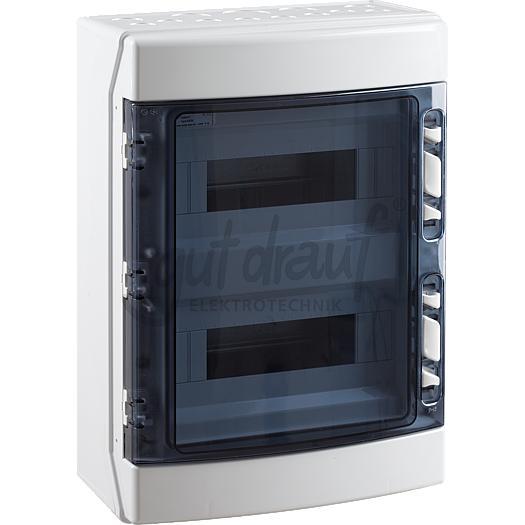 Ekont kleine verdeler IP65 grijs transparant 2x12 modules