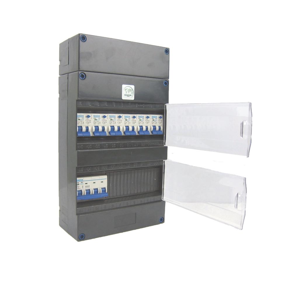 GACIA 6 groepenkast 1xHS 6 combiautomaten