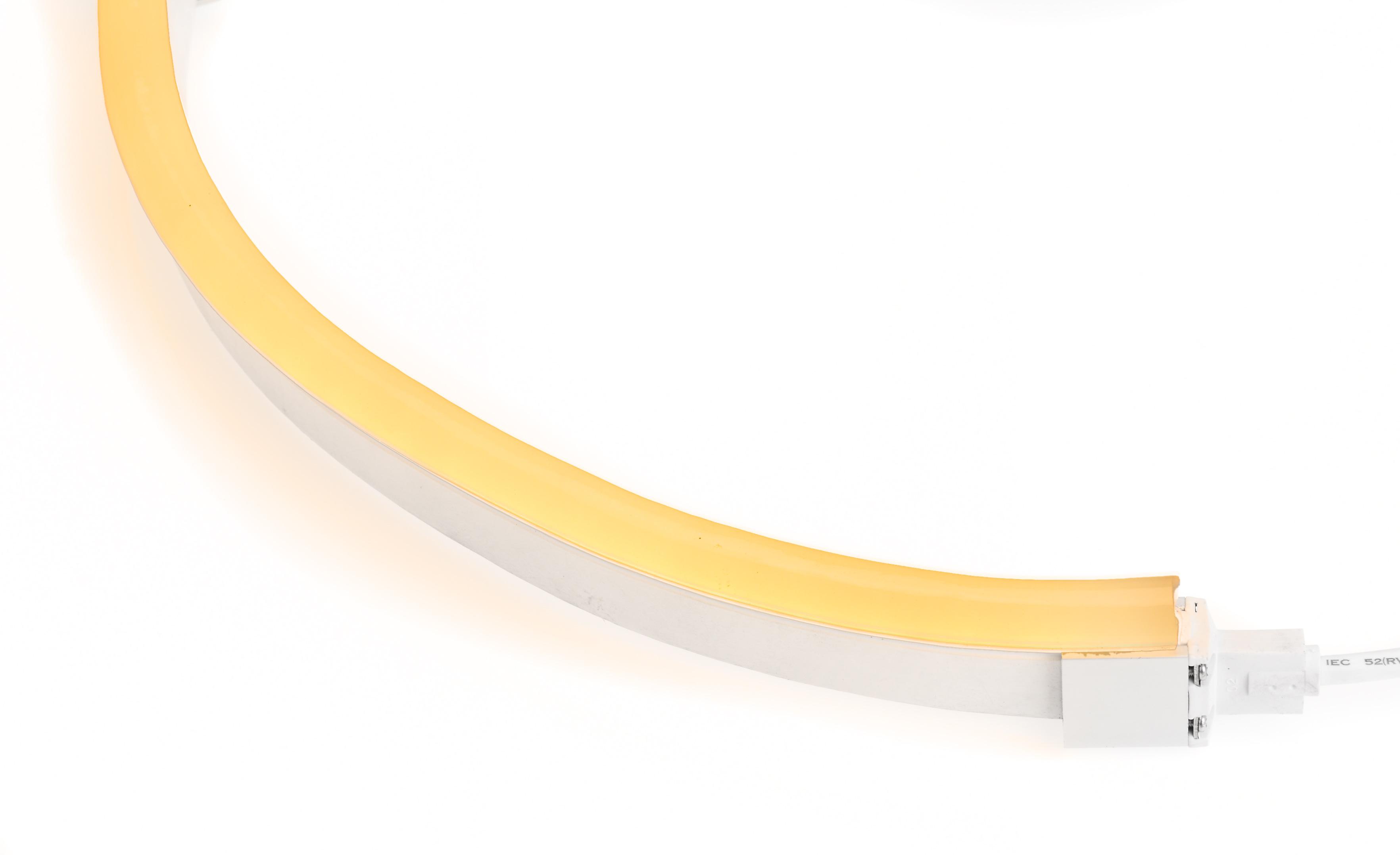 LED Neon Flex Flat Professional oranje 24V 10M met aansluitkabel 110 045