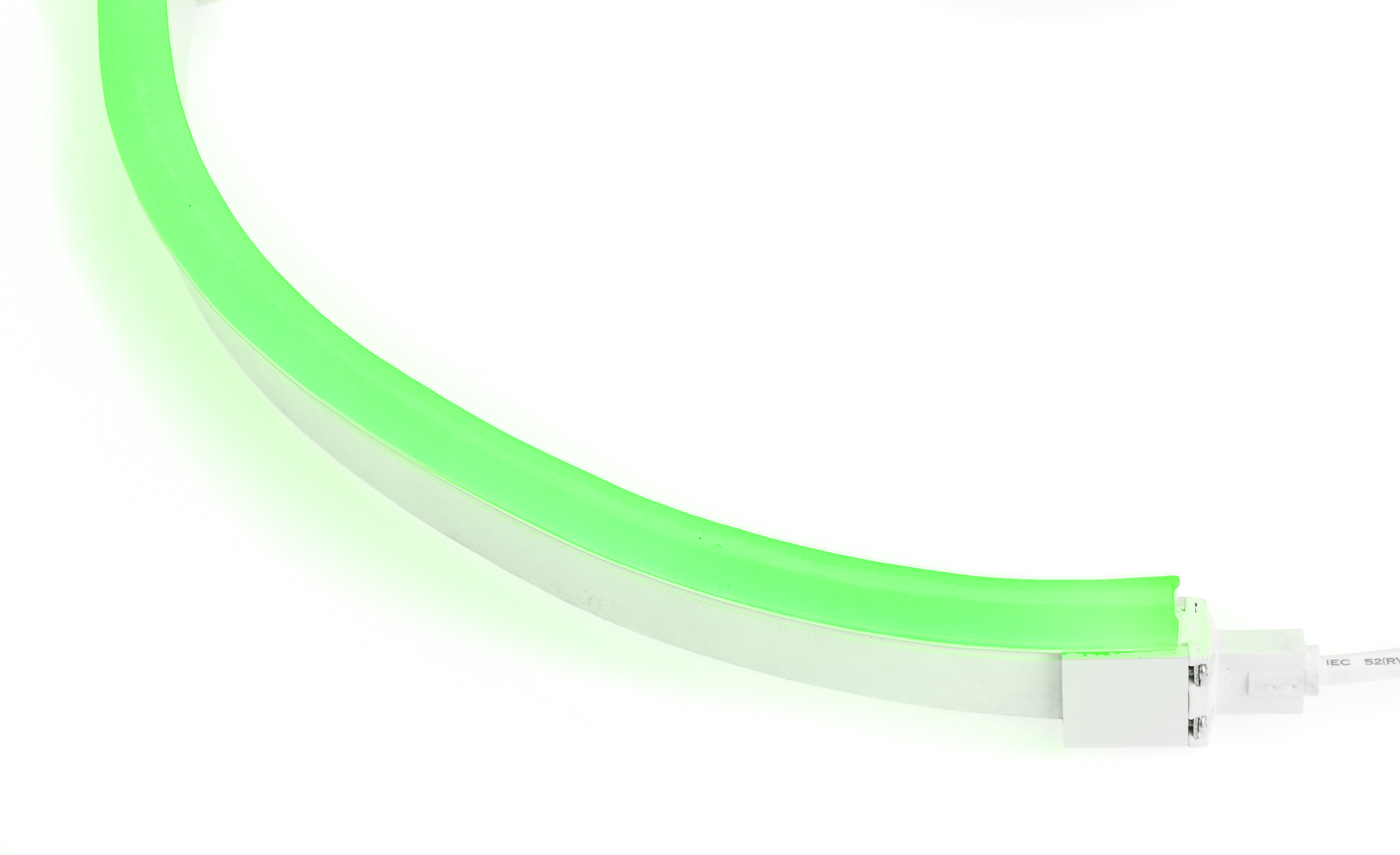 LED Neon Flex Flat Professional groen 24V 10M met aansluitkabel 110 043