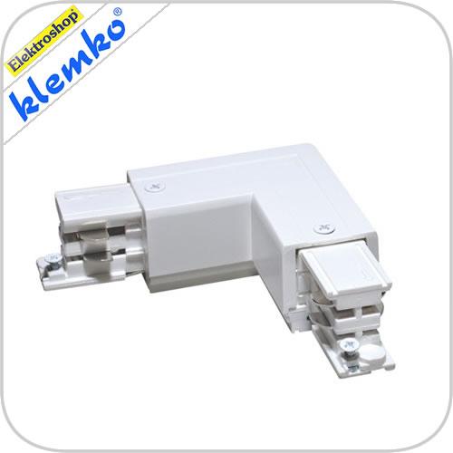 Euro 3 fase rails l - connector rechts (65x65 mm) wit