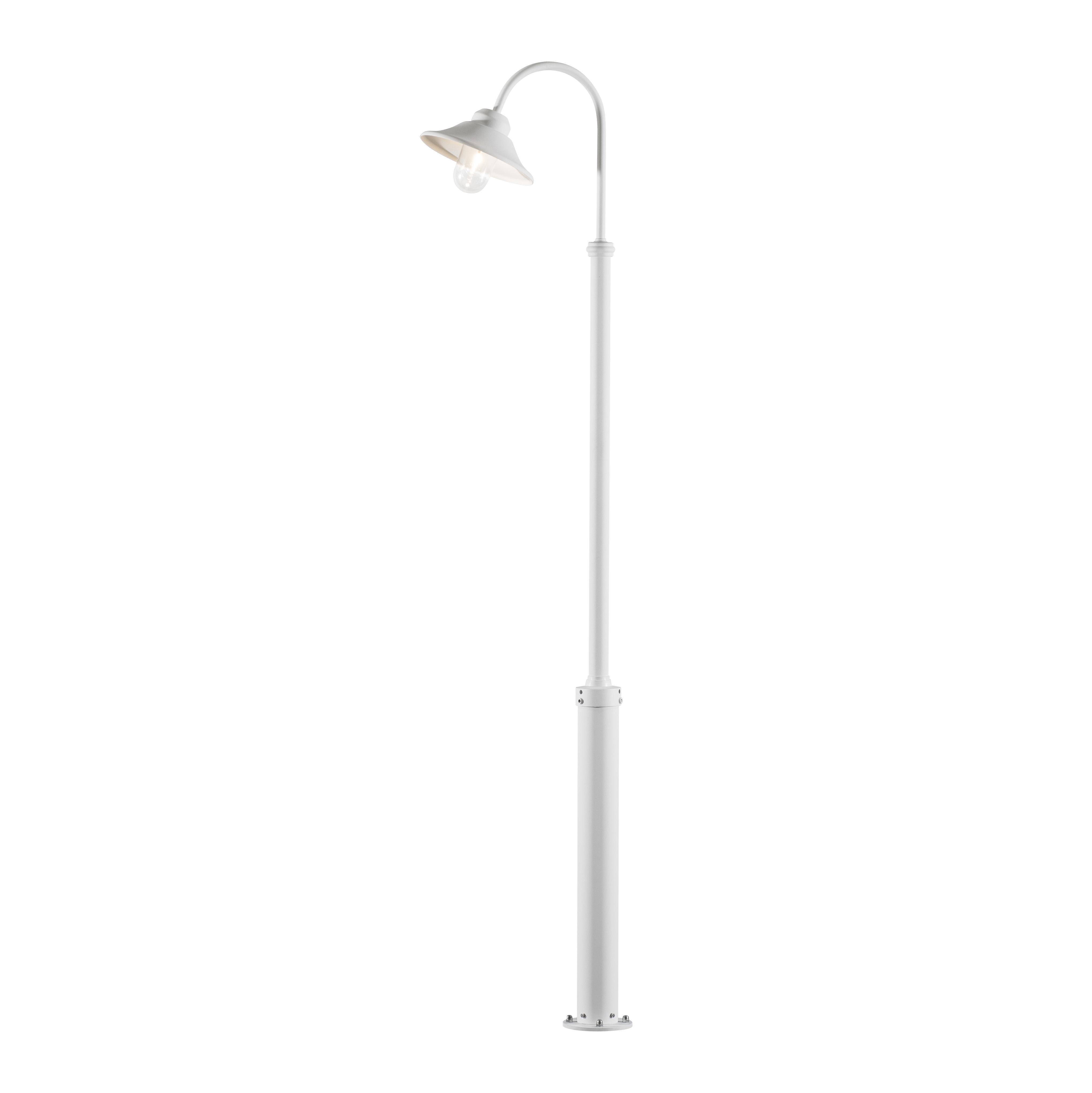 Staande buitenlamp Spaarlamp, LED E27 60 W Konstsmide Vega 560-250 Wit
