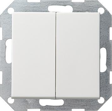 Gira drukvlakschakelaar wissel wissel zuiver wit glanzend wip rechtstaand 286120