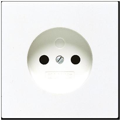 Jung LS990 wandcontactdoos 1 voudig zonder randaarde creme